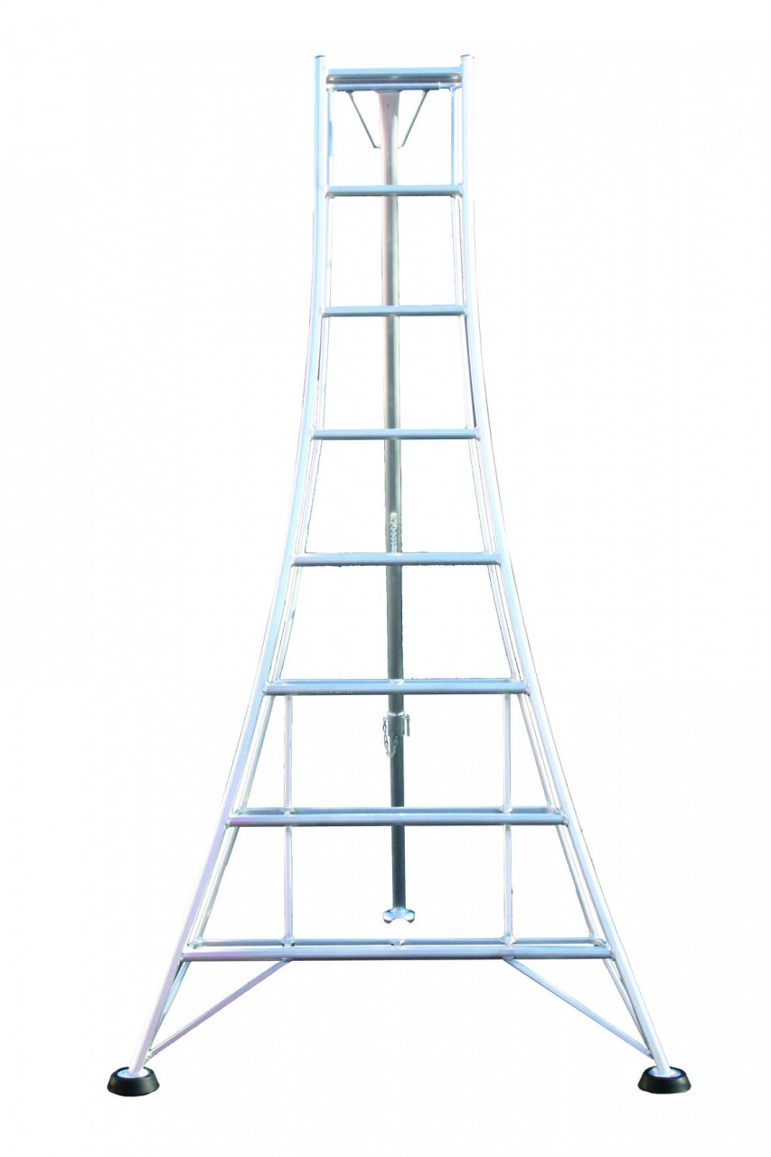 8 Rung Adjustable Leg Tripod Ladder