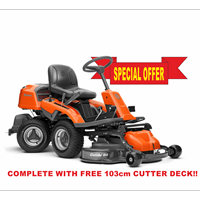 Husqvarna R 216 AWD Out Front Rider complete with 103 cm cutter deck