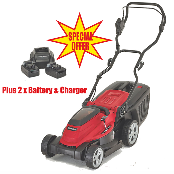 Mountfield MC 380Li 40V battery push four wheeled lawn mower